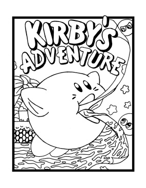Kirby Coloring Pages on It And Enter The Coloring Contest Winner Gets One Brand New High Five